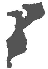 Karte von Mosambik - freigestellt