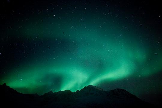 Aurora Borealis outside Tromso, Norway