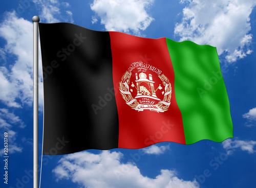 Afghanistan Flag Waving Animation