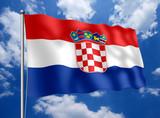 kroatien flagge stockfotos und lizenzfreie bilder auf. Black Bedroom Furniture Sets. Home Design Ideas