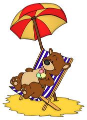 Bär, Teddy, Teddybär, Urlaub, Ferien, Strand, Südsee