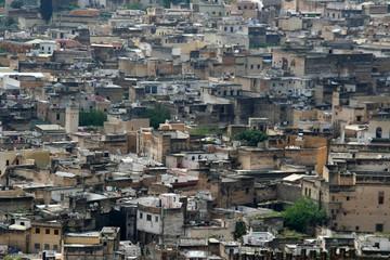 Blick auf die Medina von Fez