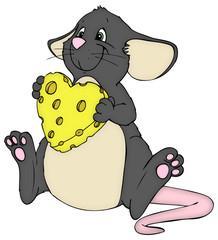 Maus, Ratte, Käse, Herz, Liebe, Valentinstag, verliebt