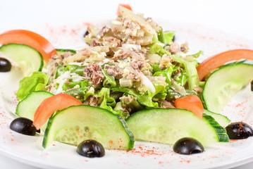 Salad of tuna fish