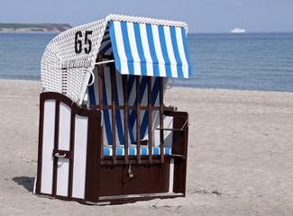 Fototapete - Strandkorb, geschlossen