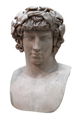 Ancient marble bust of Antinous