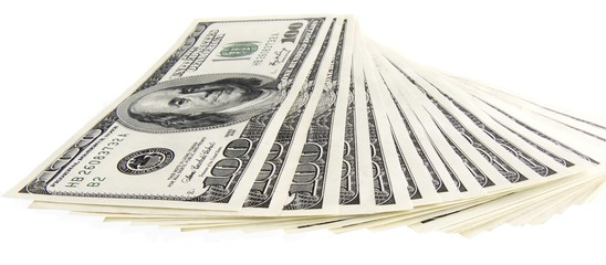 dollars isolated 2