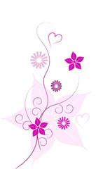 liebe rose floral vektor