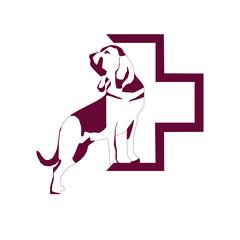 dog vector, veterinary logo