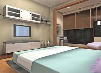 a cozy bedroom design proposal