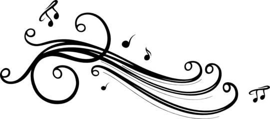 Musik, Musiknote, Noten, Notenschlüssel, schwarz