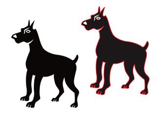 犬07グレートデン(シルエット)