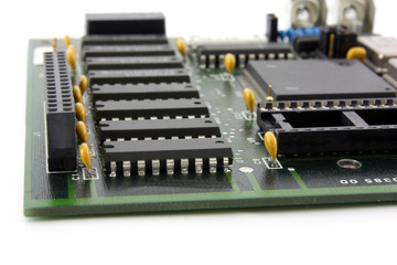 Old controller card. Shallow DOF.