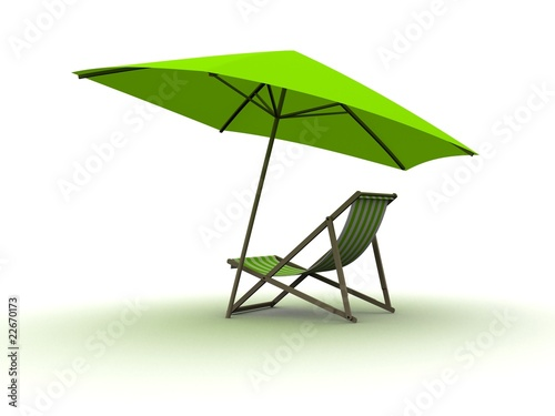 liegestuhl mit sonnenschirm stockfotos und lizenzfreie bilder auf bild 22670173. Black Bedroom Furniture Sets. Home Design Ideas