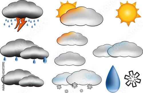 Simboli meteo immagini e vettoriali royalty free su for Scarica clipart
