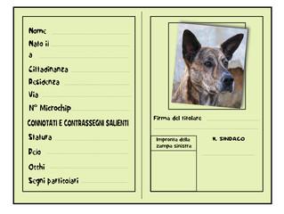 carta d'identità pet con microchip