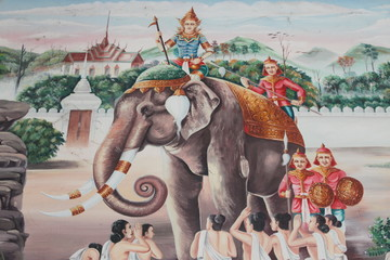 Painting on the wall of temple