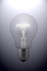 Glow Light Bulb. Light bulb on