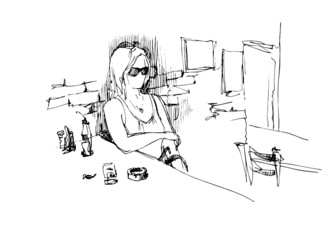 girl spectacled