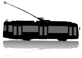 Wall Mural - Modern trolleybus