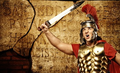 Spoed Foto op Canvas Ridders Roman letters texture