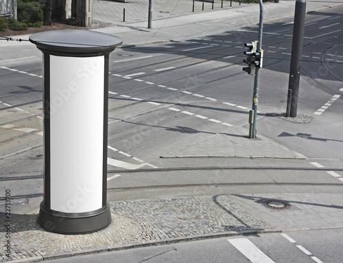 litfa s ule werbefl che stockfotos und lizenzfreie bilder auf bild 22713700. Black Bedroom Furniture Sets. Home Design Ideas