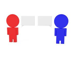 Businessmen Talking, isolated on white