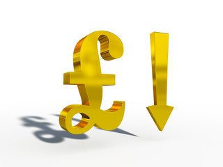 GBP Pound sterling up down course 3d cg