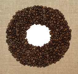 frame from coffee grains