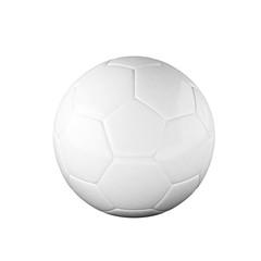 White soccer ball isolated