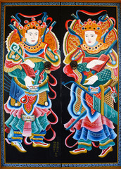 Door painting in chinese temple