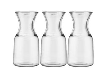 Three glass jugs