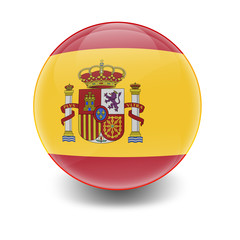 Esfera brillante con bandera España
