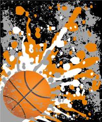 Grungy basketball background