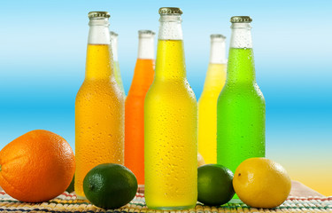 Cold beverages with fruits