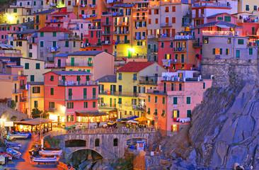 Photo sur Plexiglas Saumon Manarola, Cinque Terre, Italy