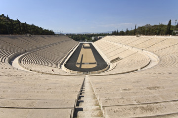 Panathenaic stadium at Athens, Greece (Kallimarmaro)
