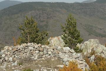 Mur de pierre,Pyrénées audoises