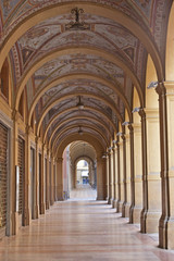 Arkadengang in Bologna