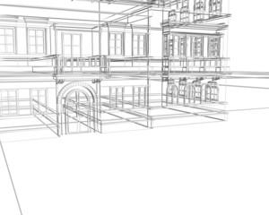 architettura wireframe