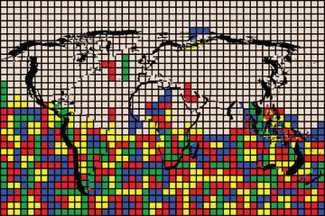 Tetris world map