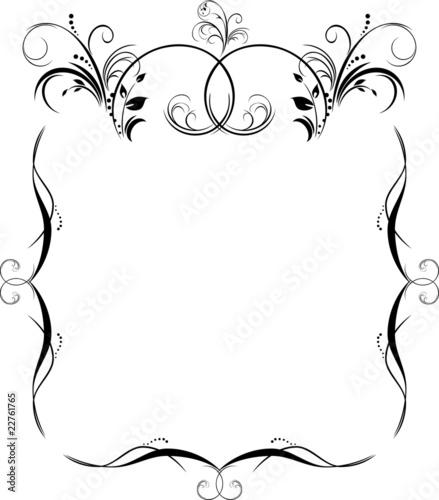 Vector frame modern vertical black on a white background