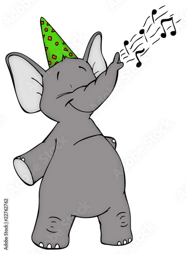 Elefant Geburtstag Feier Party Einladung Stock Photo And