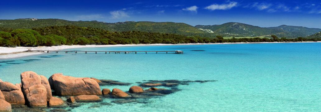 Stitched Panorama beach