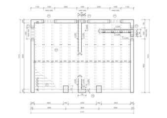 Construction drawing of a floor slab