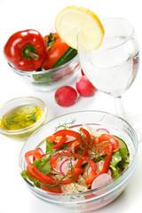 Fresh spring vegetable salad