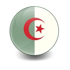 Esfera brillante con bandera Argelia