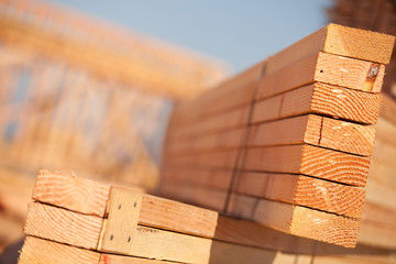 Stack of Building Lumber