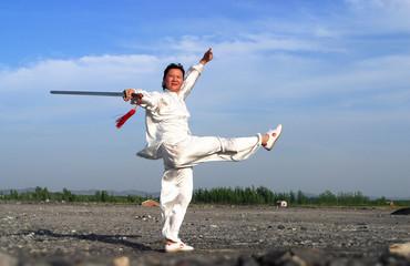 人物,太极剑,中国概念,