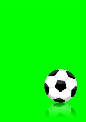 Soccer ball layout